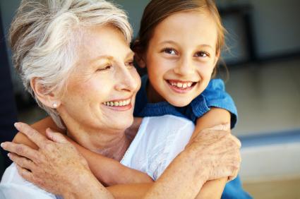 girl_embracing_grandmother